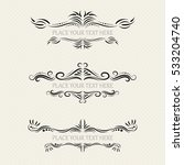 vector set of ornate frames | Shutterstock .eps vector #533204740