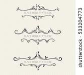 vector set of ornate frames | Shutterstock .eps vector #533204773