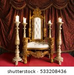 royal throne of gold on red... | Shutterstock . vector #533208436