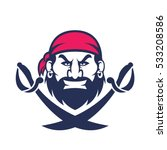 pirate head mascot | Shutterstock .eps vector #533208586