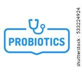 probiotics. badge with... | Shutterstock .eps vector #533224924
