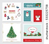 christmas templates set.... | Shutterstock .eps vector #533225758