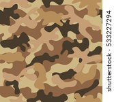 camouflage seamless pattern.... | Shutterstock .eps vector #533227294