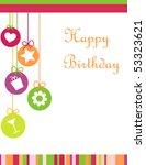 happy birthday card | Shutterstock .eps vector #53323621