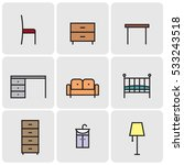 outline web icon collection  ... | Shutterstock .eps vector #533243518