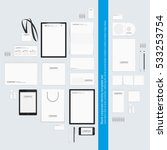 corporate identity template set.... | Shutterstock .eps vector #533253754