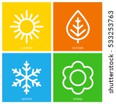 a set of colorful icons of... | Shutterstock .eps vector #533253763