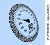 speedometer 2017 year greeting. ... | Shutterstock .eps vector #533258596