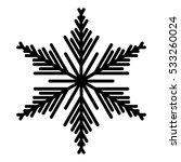 snowflake icon. vector eps 10   Shutterstock .eps vector #533260024