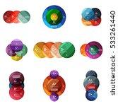 vector set of round infographic ... | Shutterstock .eps vector #533261440