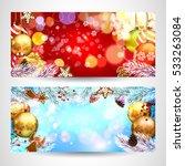 christmas. cards. | Shutterstock .eps vector #533263084