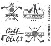 set of golf club concept with... | Shutterstock .eps vector #533265280