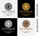 abstract elegant antique logo... | Shutterstock .eps vector #533265454