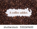 background made of coffee beans ... | Shutterstock . vector #533269600