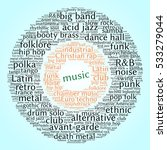music. word cloud  circles ... | Shutterstock .eps vector #533279044