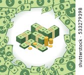 round frame made of dollars.... | Shutterstock .eps vector #533279398