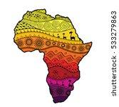 textured vector map of africa....   Shutterstock .eps vector #533279863