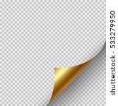 golden page curl corner on... | Shutterstock .eps vector #533279950
