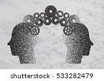 concept of brain storming ... | Shutterstock .eps vector #533282479
