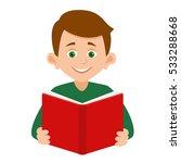 boy  reading a book.vector... | Shutterstock .eps vector #533288668