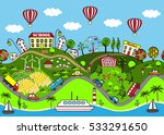 cute seamless pattern with... | Shutterstock .eps vector #533291650