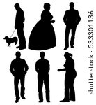 set of black silhouettes. men... | Shutterstock .eps vector #533301136