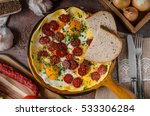 Omelette With Chorizo And Herb...