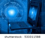 concept of computer server... | Shutterstock . vector #533311588