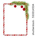 blank christmas border  candy... | Shutterstock .eps vector #533314534