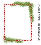 blank christmas border  candy... | Shutterstock .eps vector #533314540
