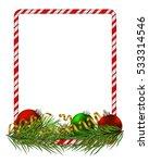 blank christmas border  candy...   Shutterstock .eps vector #533314546