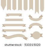 khaki tan ribbon banner... | Shutterstock .eps vector #533315020
