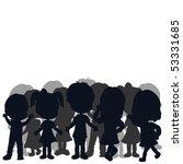 silhouettes children | Shutterstock .eps vector #53331685