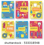 flat firefighter uniform vector ... | Shutterstock .eps vector #533318548
