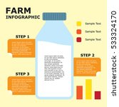 farm industry infographic | Shutterstock .eps vector #533324170