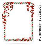 blank christmas border  candy... | Shutterstock .eps vector #533326084