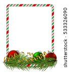 blank christmas border  candy... | Shutterstock .eps vector #533326090
