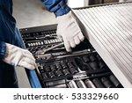 auto mechanic with working... | Shutterstock . vector #533329660