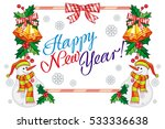winter holiday label with... | Shutterstock .eps vector #533336638
