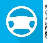 steering wheel icon. vector... | Shutterstock .eps vector #533341738