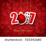 2017 new year background with... | Shutterstock .eps vector #533342680