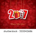 2017 new year background with... | Shutterstock .eps vector #533342686