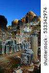 ruin ancient city in turkey   Shutterstock . vector #533342974