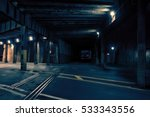 dark urban downtown city train... | Shutterstock . vector #533343556