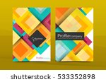 set of front and back a4 size... | Shutterstock .eps vector #533352898
