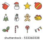 christmas icon | Shutterstock .eps vector #533360338
