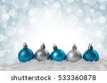 Christmas Card Small Blue And...