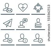 set of 9 communication icons....