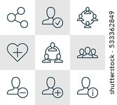 set of 9 social icons. can be... | Shutterstock .eps vector #533362849