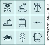 set of 9 shipping icons. can be ...